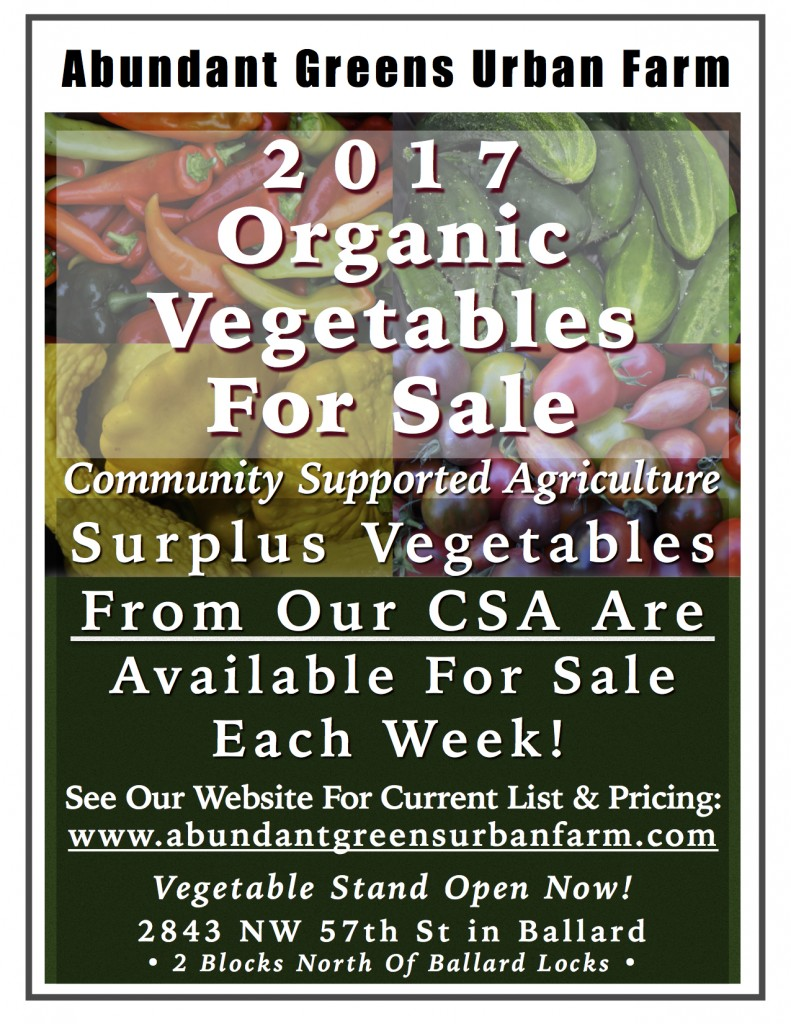 2017 Organic Vegetable For Sale Ad JPEG