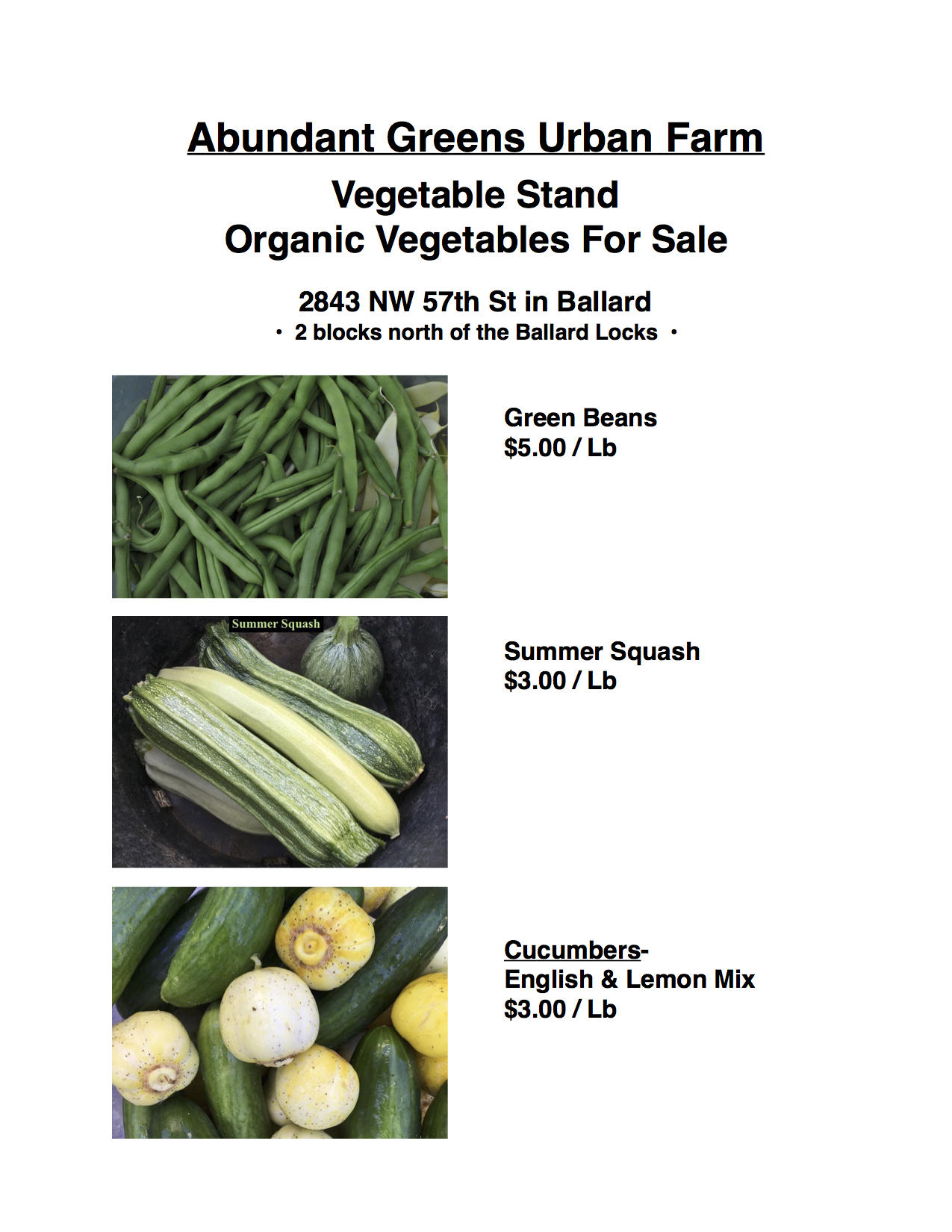 Vegetable Stand / Organic Vegetables For Sale | Abundant Greens