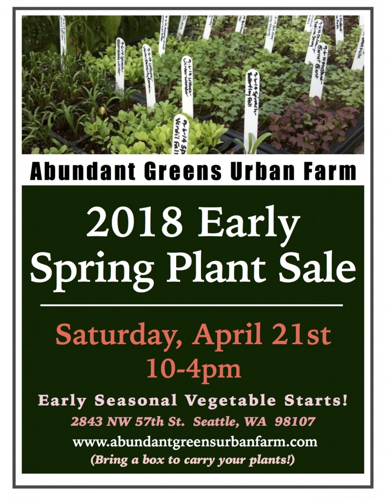 2018 Early Spring Plant Sale