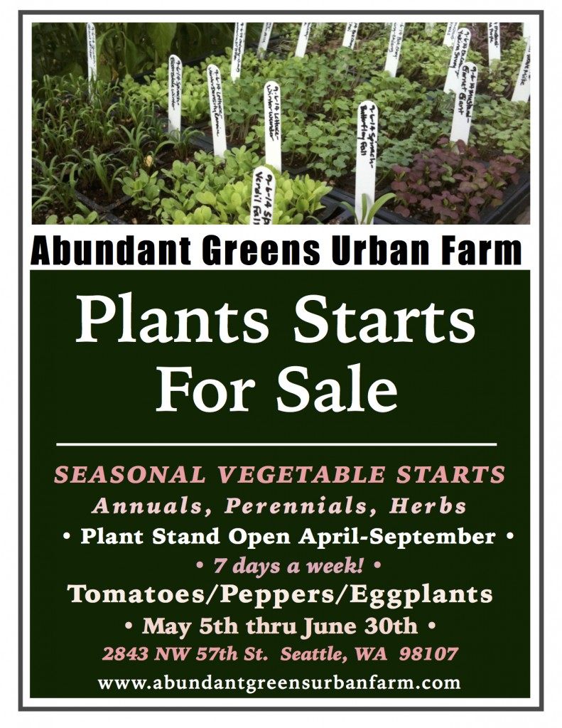 2018 Vegetable Plants For Sale Poster
