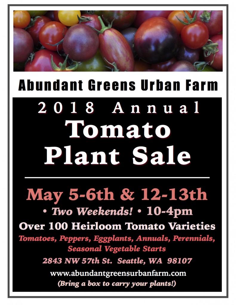 2018 Tomato Plant Sale Poster