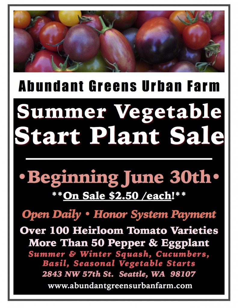 *2018 Summer Vegetable Plant Sale